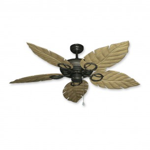 Trinidad Ceiling Fan Oil Rubbed Bronze - Walnut Leaf Blades
