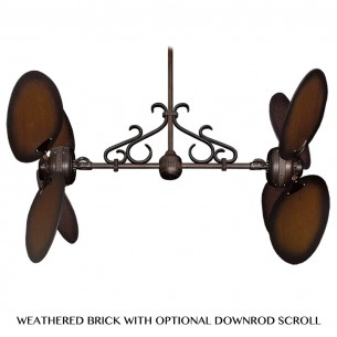 220V Twin Star II Dual Motor Ceiling Fan - Oil Rubbed Bronze (scroll optional)