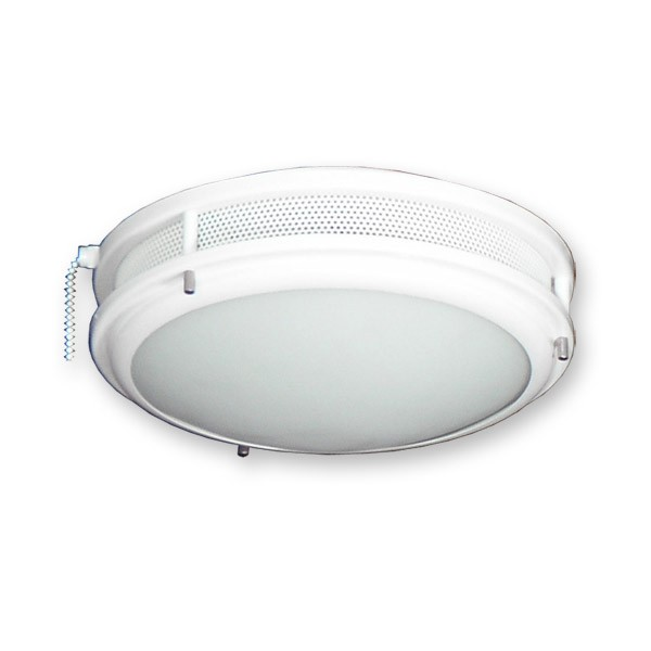 Vented low profile contemporary ceiling fan light kit standard sockets fl164pw low profile fan light kit pure white aloadofball Image collections