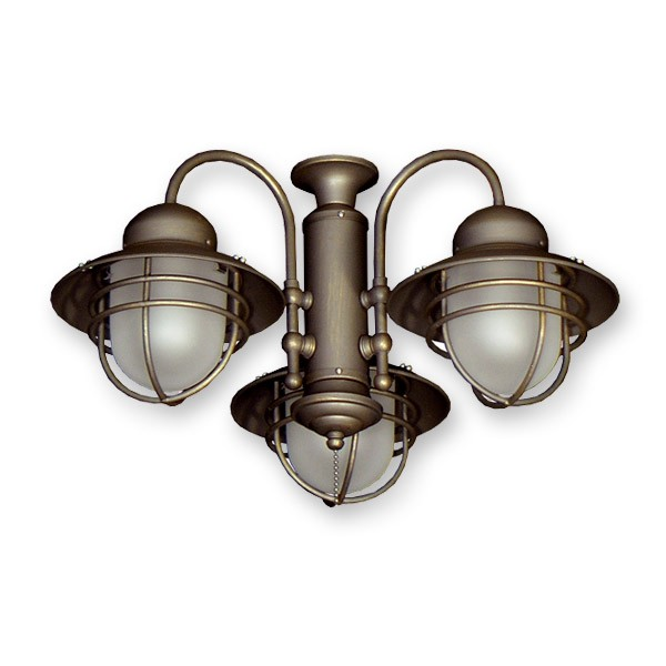 362 nautical styled outdoor ceiling fan light kit 3 finish choices