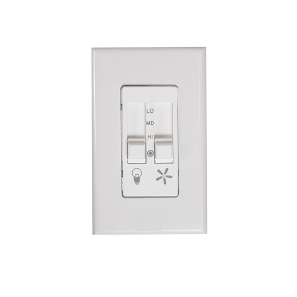 Ceiling fan wall control 423l mr quiet deluxe sliding fan speed 423l fan and light control available in white or bisque aloadofball Choice Image