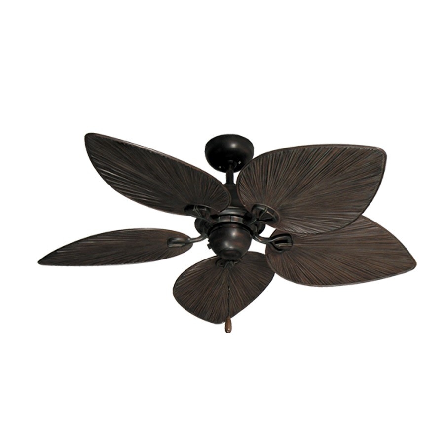 Tropical Ceiling Fans : Inch tropical ceiling fan small oil rubbed bronze
