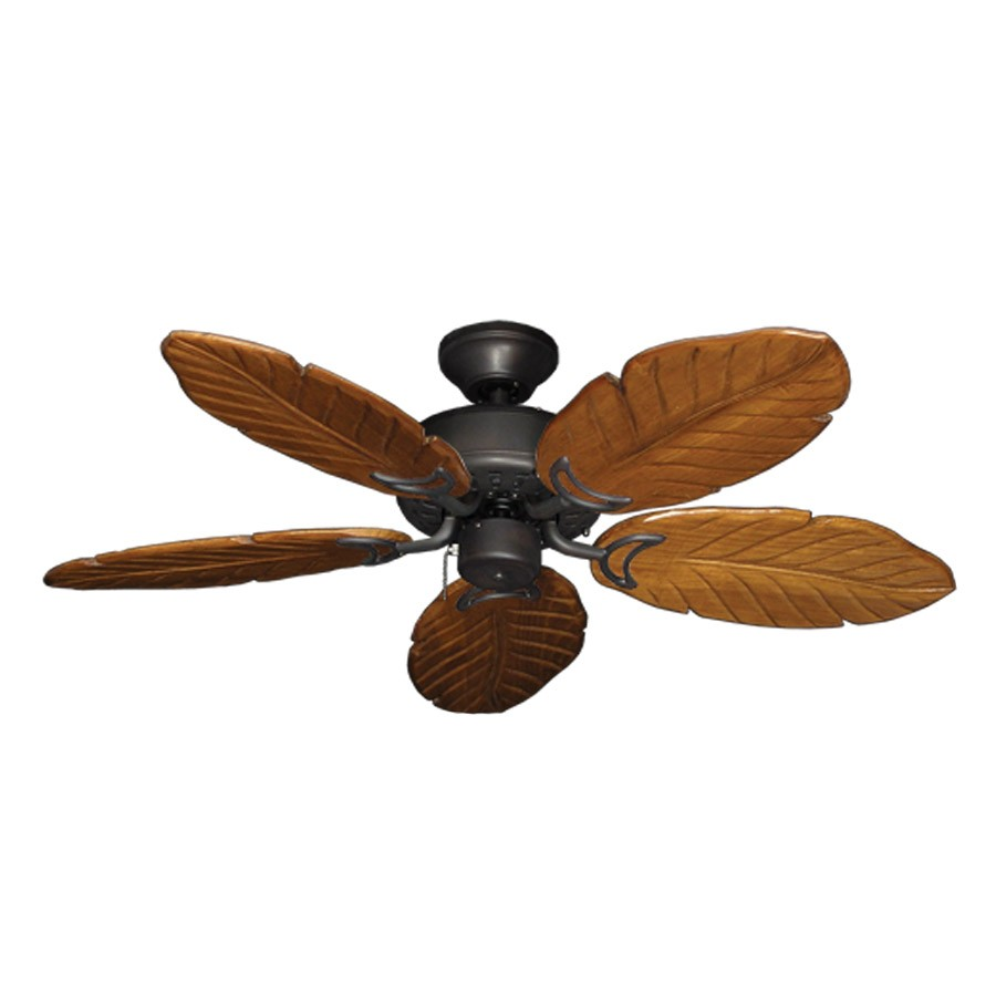 42 Quot Outdoor Tropical Ceiling Fan Oil Rubbed Bronze Finish Treated Solid Wood Blades