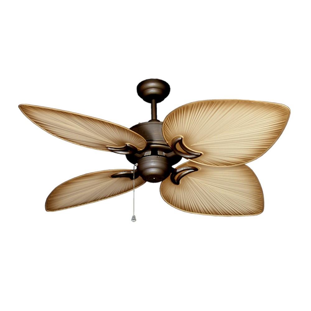Outdoor Tropical Ceiling Fan Oil Antique Bronze Bombay