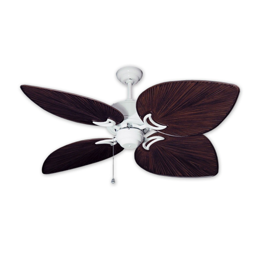 Outdoor Tropical Ceiling Fan Pure White Bombay By Gulf