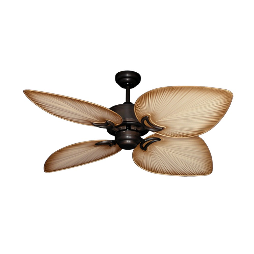 Tropical Ceiling Fans : Outdoor tropical ceiling fan oil rubbed bronze bombay by
