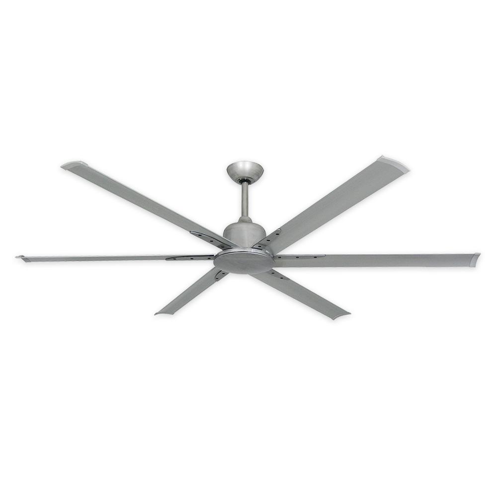72 Titan Ii Ceiling Fan By Troposair Brushed Nickel