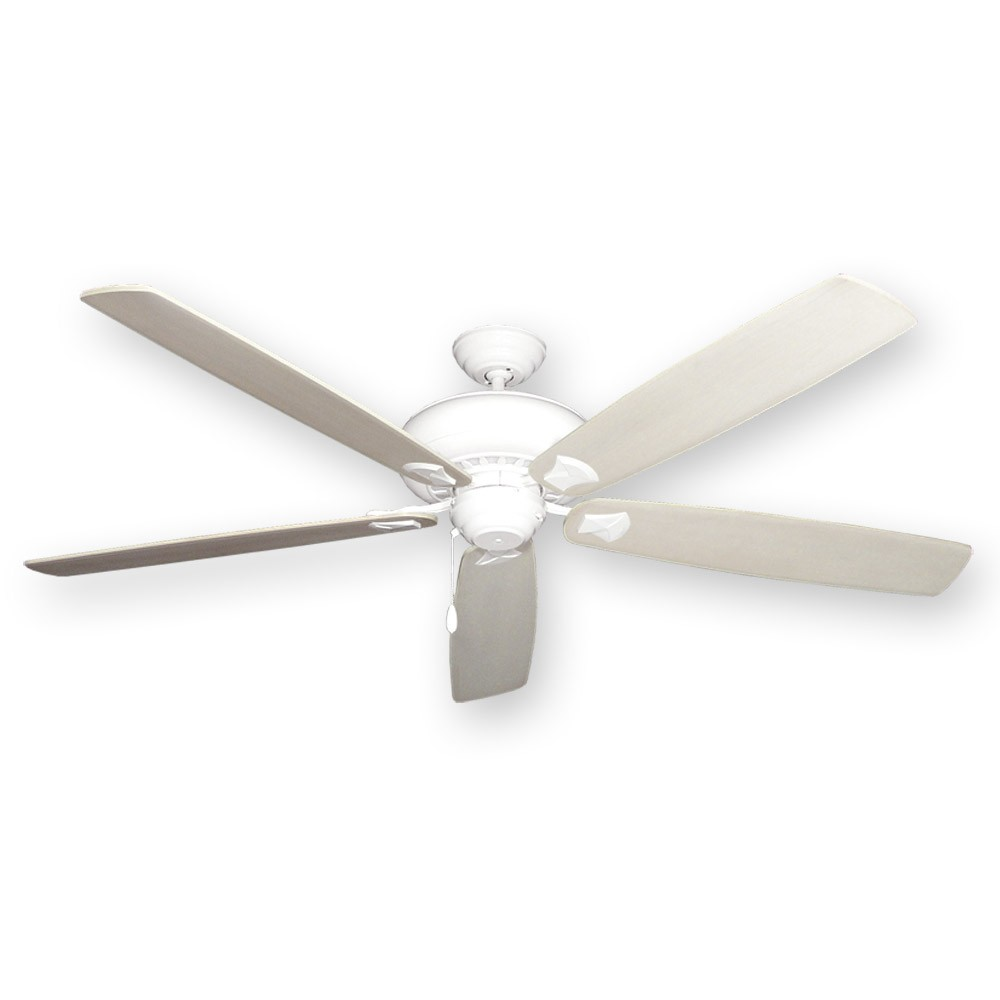 Tiara Ceiling Fan Pure White 72 Whitewashed Blades