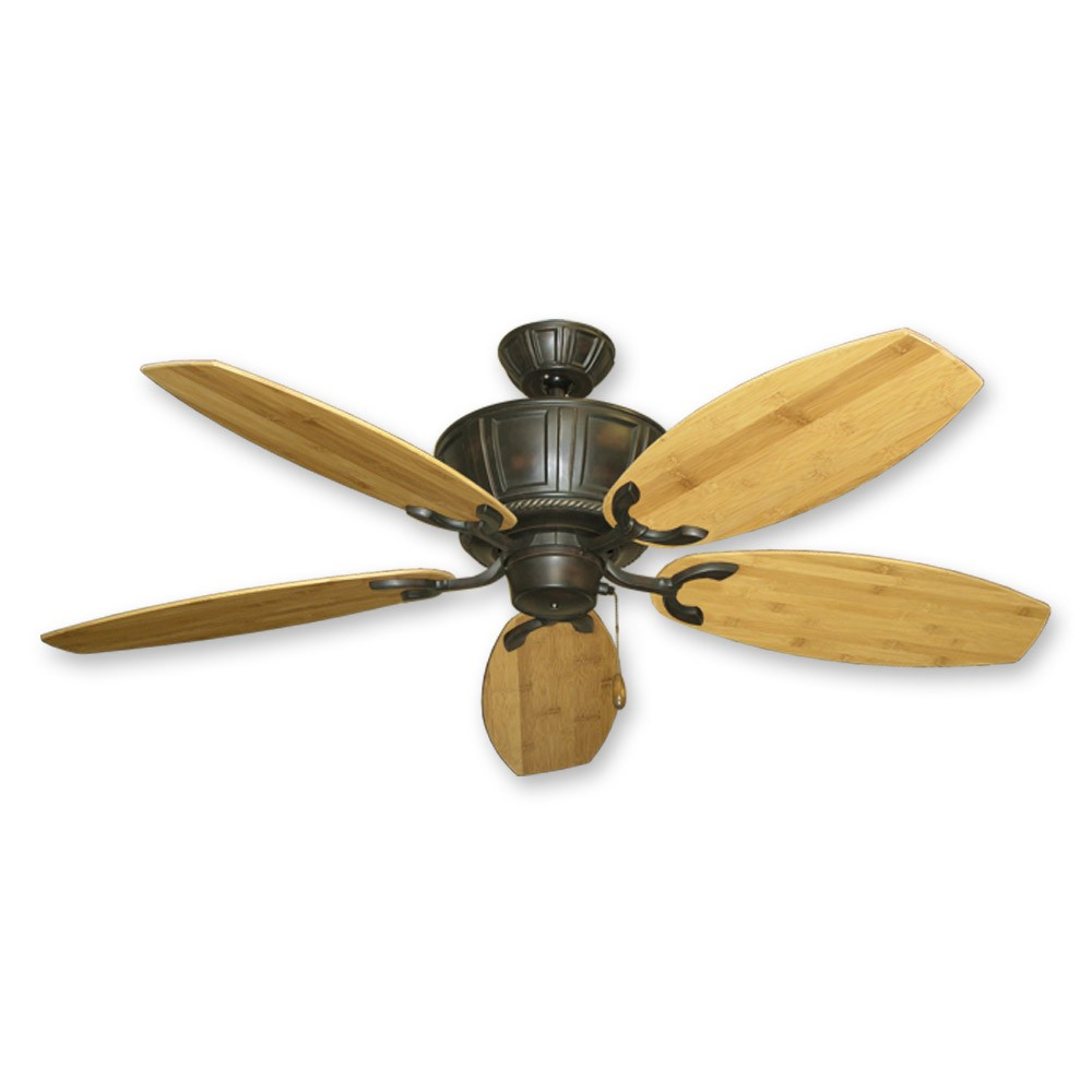 52 Centurion Ceiling Fan Brown Finish Bamboo Blades
