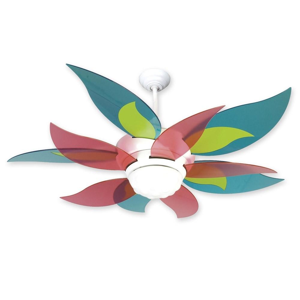 Craftmade Bloom Flower Ceiling Fan W Candy Blades Bl52w Bblcndy