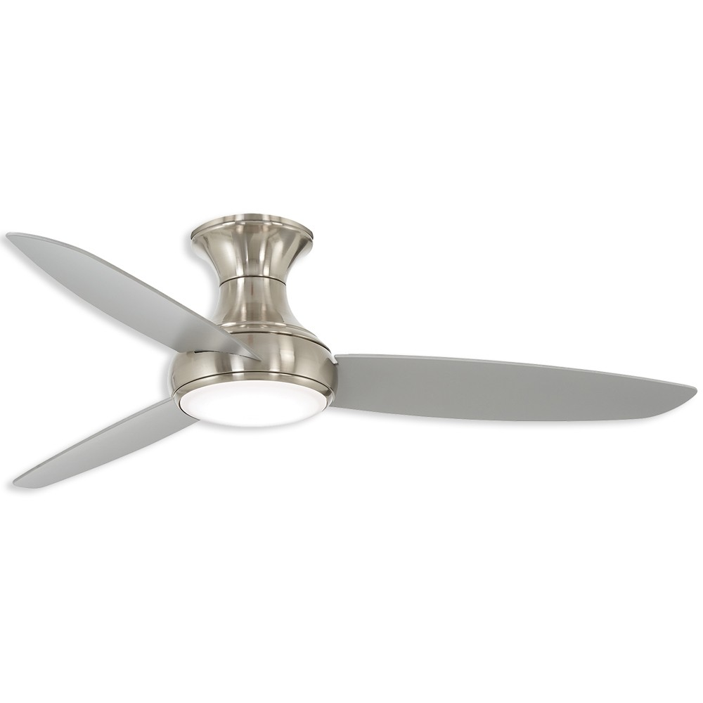 54 Minka Aire Concept Iii Damp Led Outdoor Ceiling Fan F467l Bnw Brushed Nickel Wet Finish