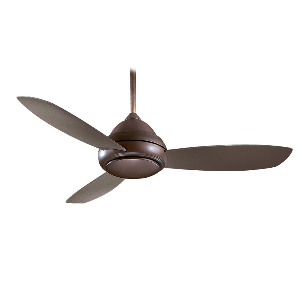 Concept i wet outdoor ceiling fan by minka aire fans f476l orb concept i wet rated outdoor ceiling fan shown without light aloadofball Images