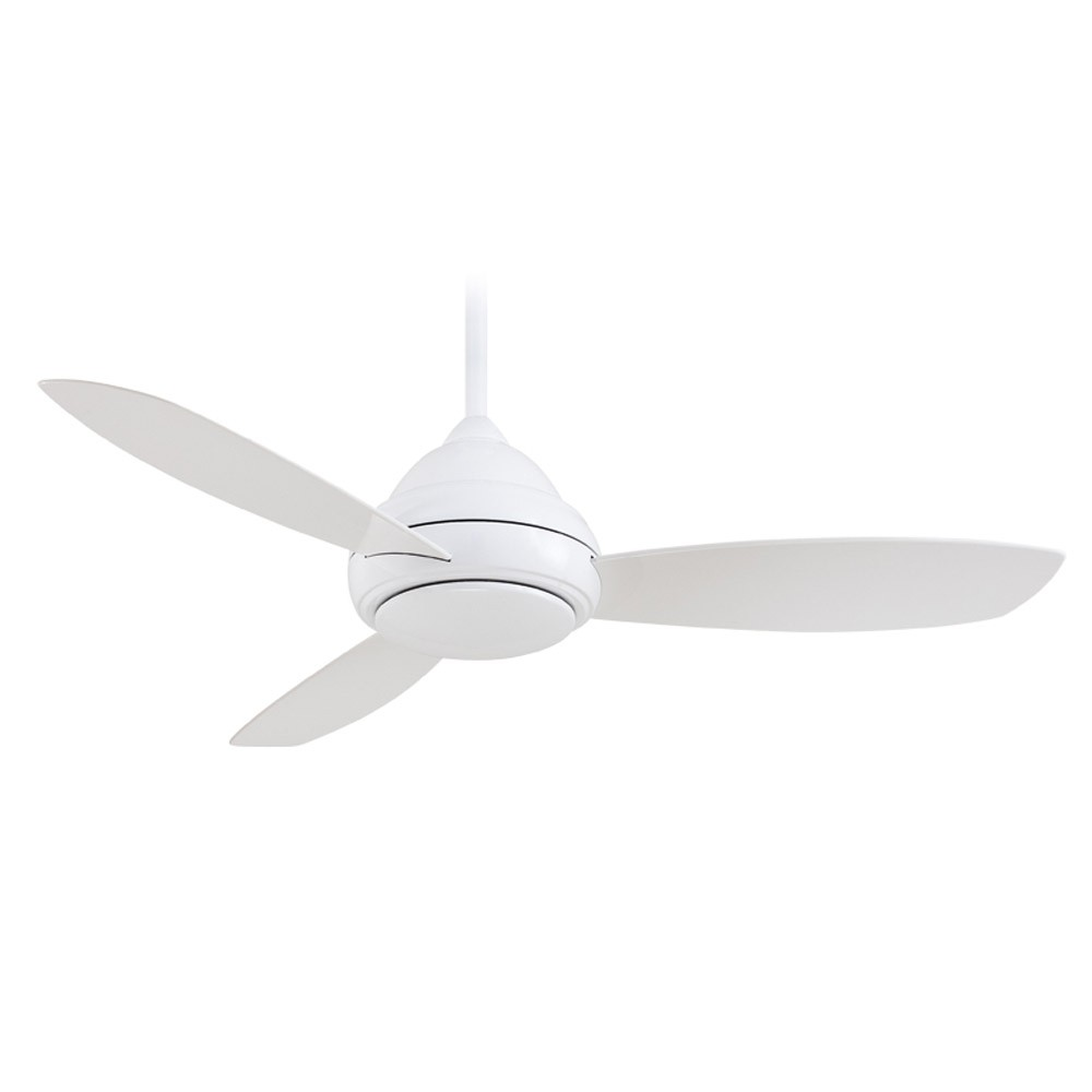 Concept i ceiling fan by minka aire fans f517 wh white white minka aire concept 1 f517 wh no light aloadofball Images