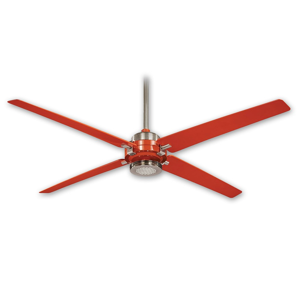 60 Minka Aire Spectre F726 Bn Org Orange Brushed Nickel Finish 6 Sd Dc Ceiling Fan