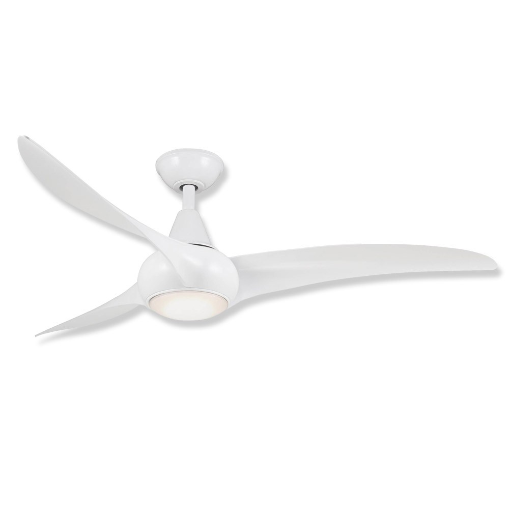 Light Wave Ceiling Fan By Minka Aire, F844 WH