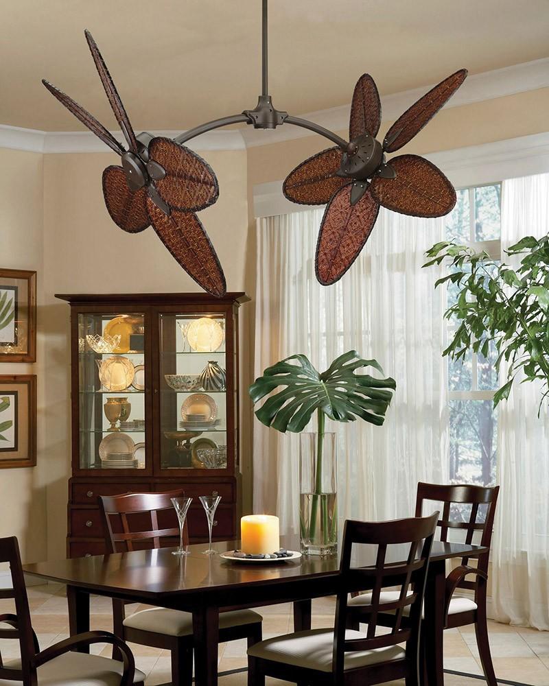 Caruso Dual Ceiling Fan By Fanimation Fp7000ob W