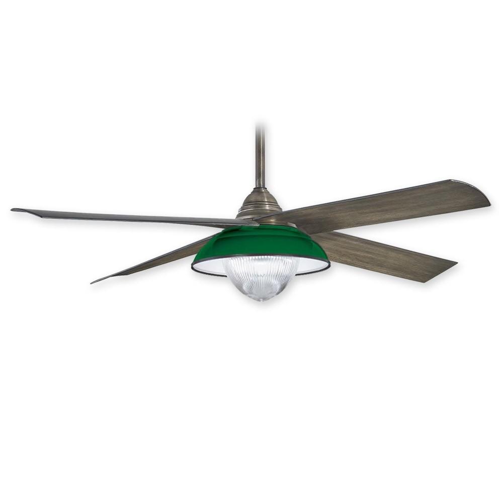 Minka Aire Shade F683l Hbz W Optional Fs683l Grn Green