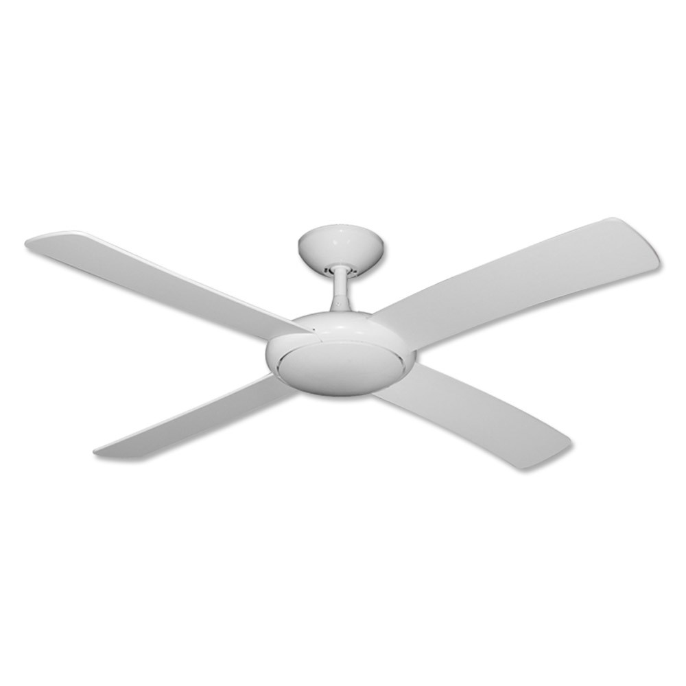 "Gulf Coast Luna Fan 52"" Modern Outdoor Ceiling Fan Pure White"