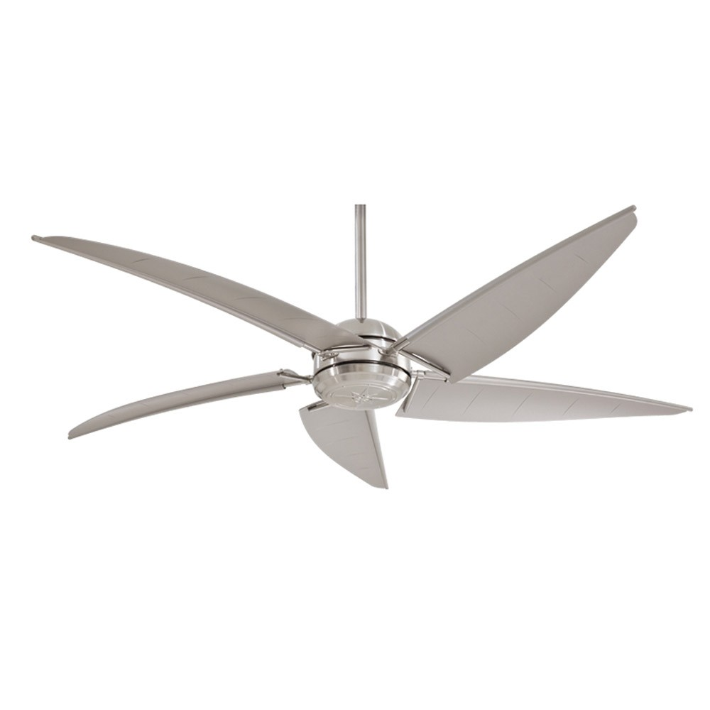 Minka Aire Magellan FLBNW Outdoor Ceiling Fan With Light - Flush mount kitchen ceiling fans with lights