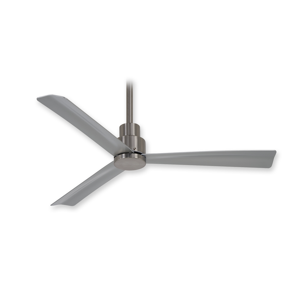 Minka aire f786 bnw simple 44 ceiling fan brushed nickel wet 44 minka aire simple ceiling fan f786 bnw brushed nickel wet aloadofball Choice Image