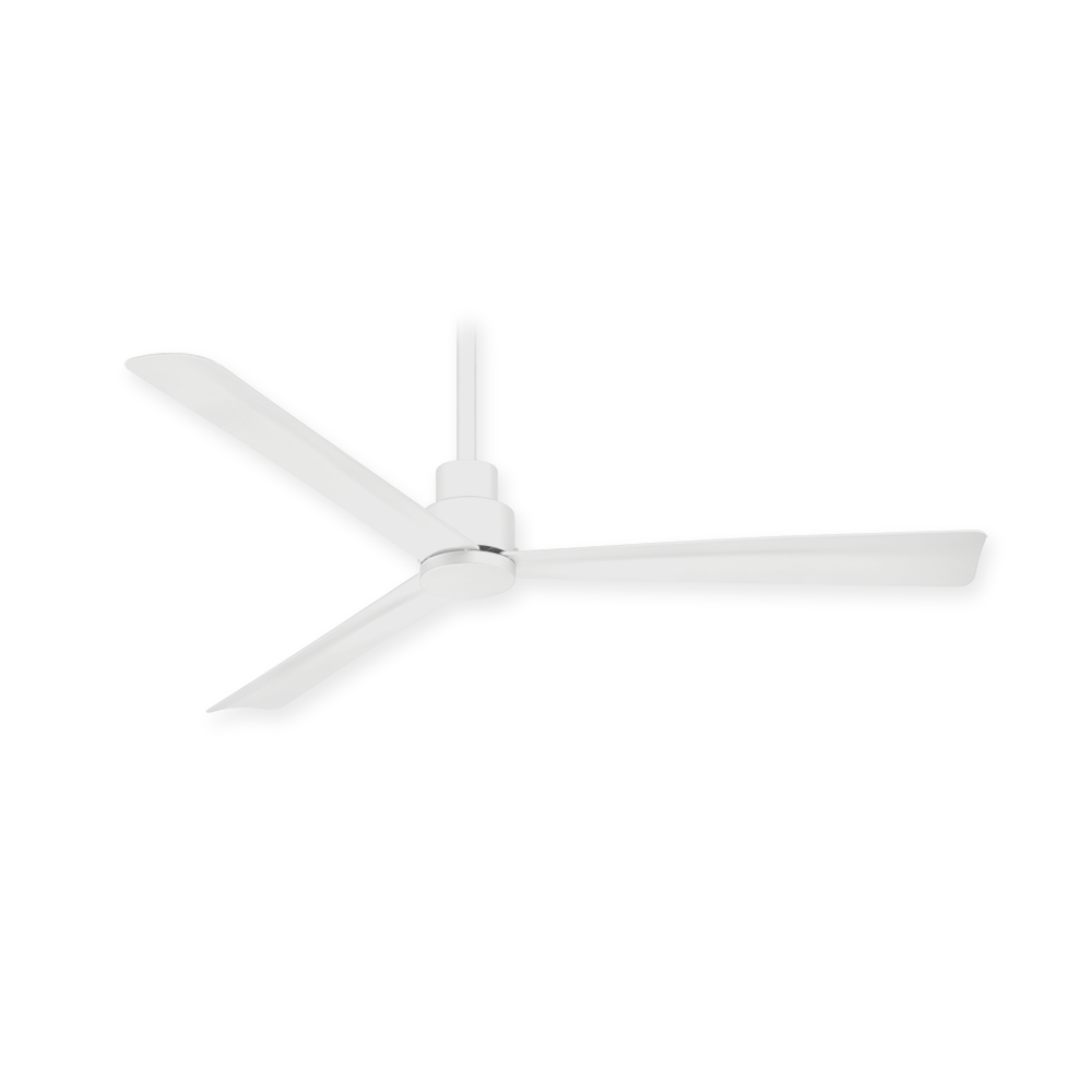 Minka aire f786 whf simple 44 ceiling fan flat white 44 minka aire simple ceiling fan f786 whf flat white aloadofball Choice Image