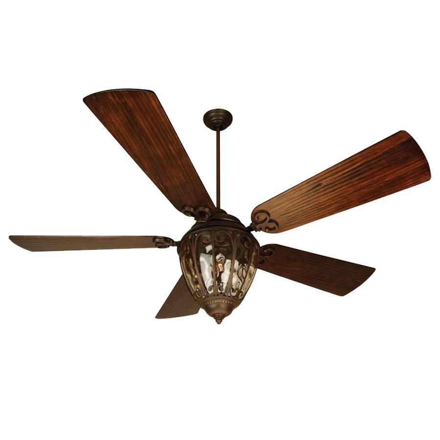 Craftmade Olivier Ceiling Fan - Aged Bronze - Hand Scraped Walnut Blades  Shown - Olivier 70