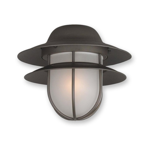 Olk67cfl Indoor Outdoor Ceiling Fan Light Nautical Style W Frosted Glass 3 Finishes