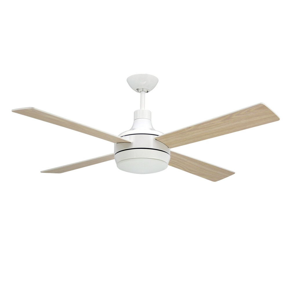 52 Quantum Modern 4 Blade Ceiling Fan By Troposair Pure White Light Optional