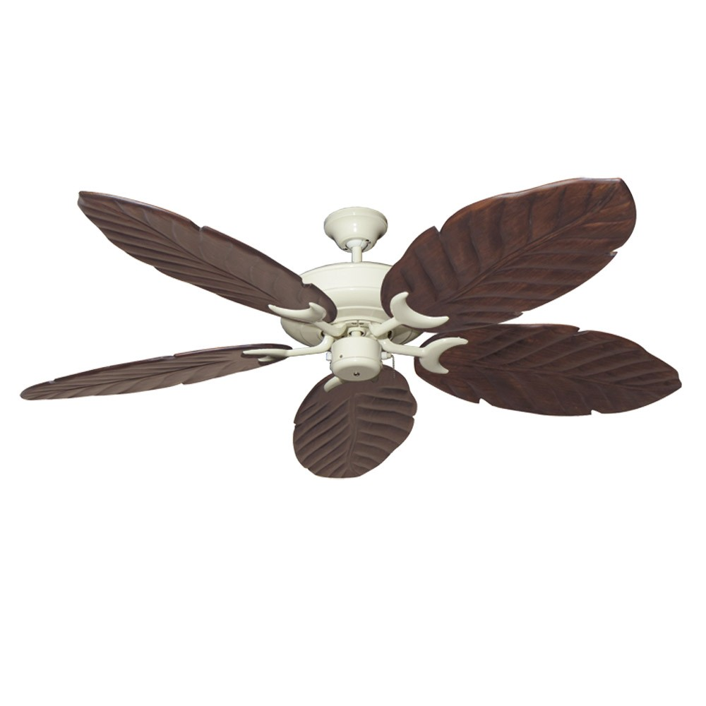 Antique White Raindance 100 Series Ceiling Fan Real Wood