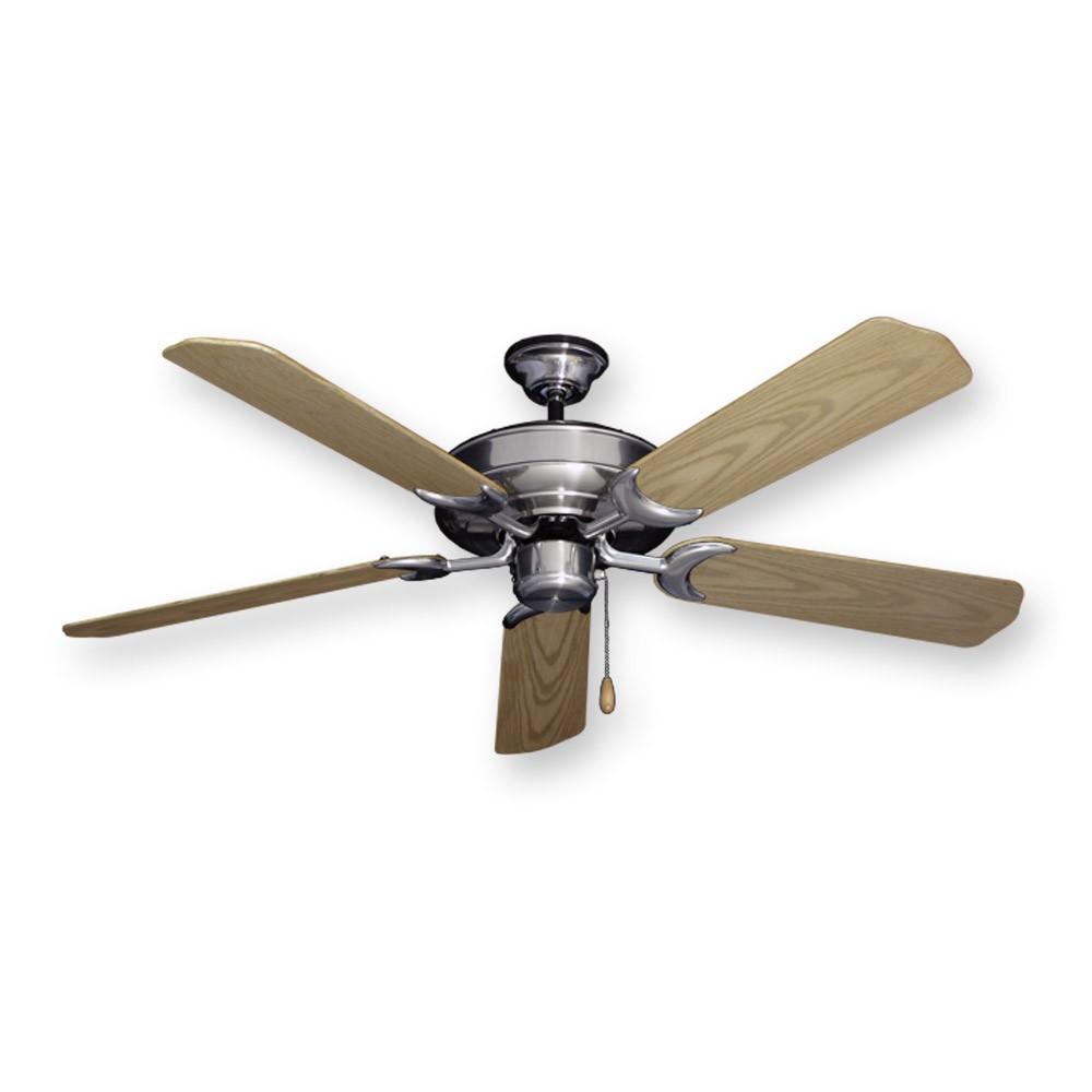 Raindance Outdoor Ceiling Fan In Brushed Nickel W 52