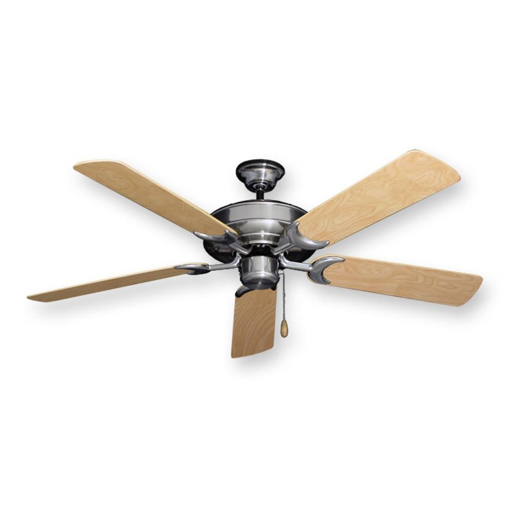 Water Ceiling Fan : Raindance outdoor ceiling fan in brushed nickel w