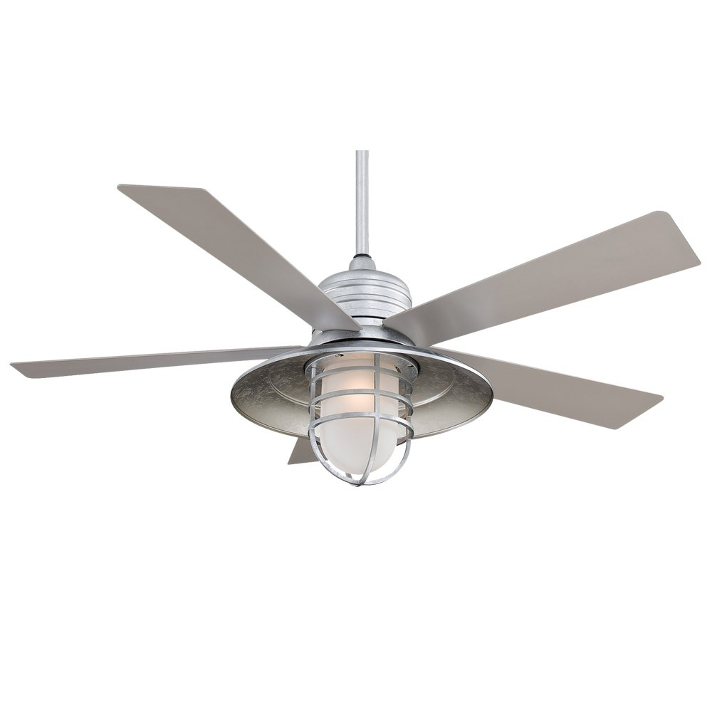 54 Rainman Ceiling Fan By Minka Aire F582 Gl Galvanized Finish With Light Kit