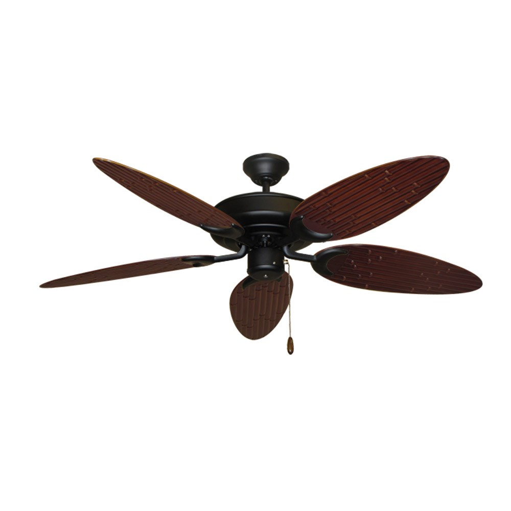 Bamboo Ceiling Fan Raindance Matte Black Customize
