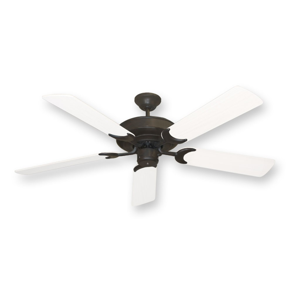 Oil rubbed bronze raindance outdoor ceiling fan 52 blades w 6 raindance oil rubbed bronze w pure white blades aloadofball Choice Image