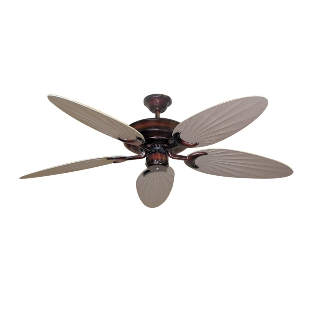 Bamboo Ceiling Fan Wine Finish Customize With 12 Blade Finish Choices