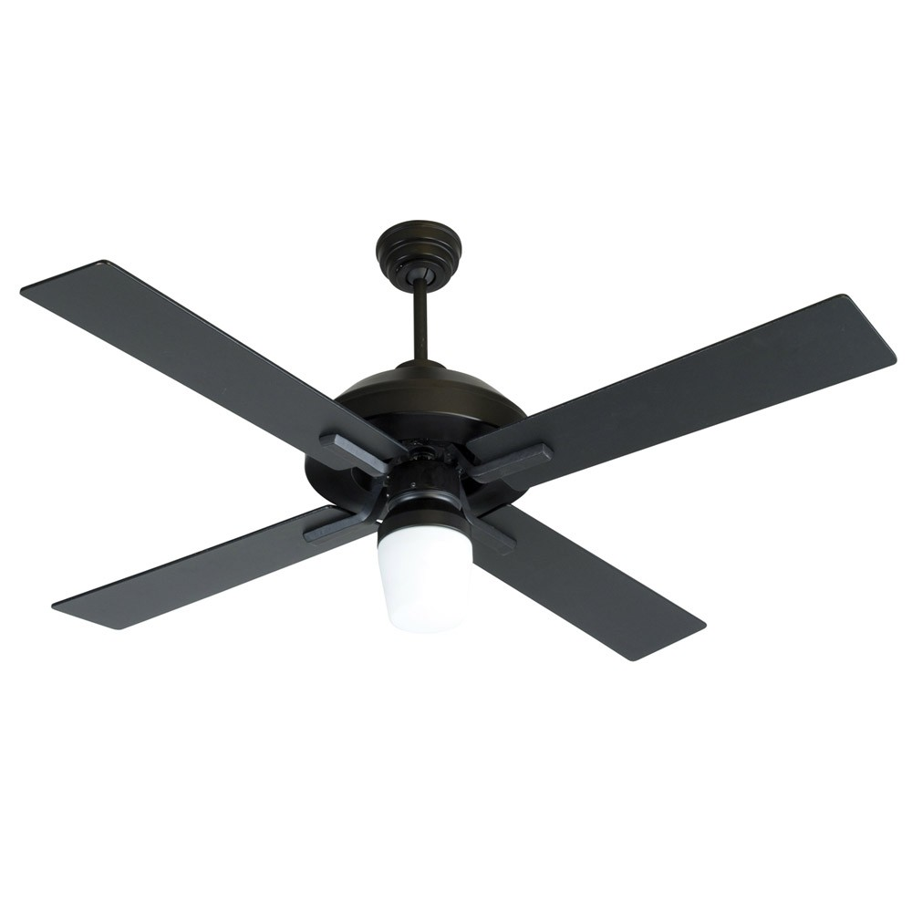 52 South Beach Ceiling Fan By Craftmade Fans Sb52fb4 Flat Black Outdoor Wet
