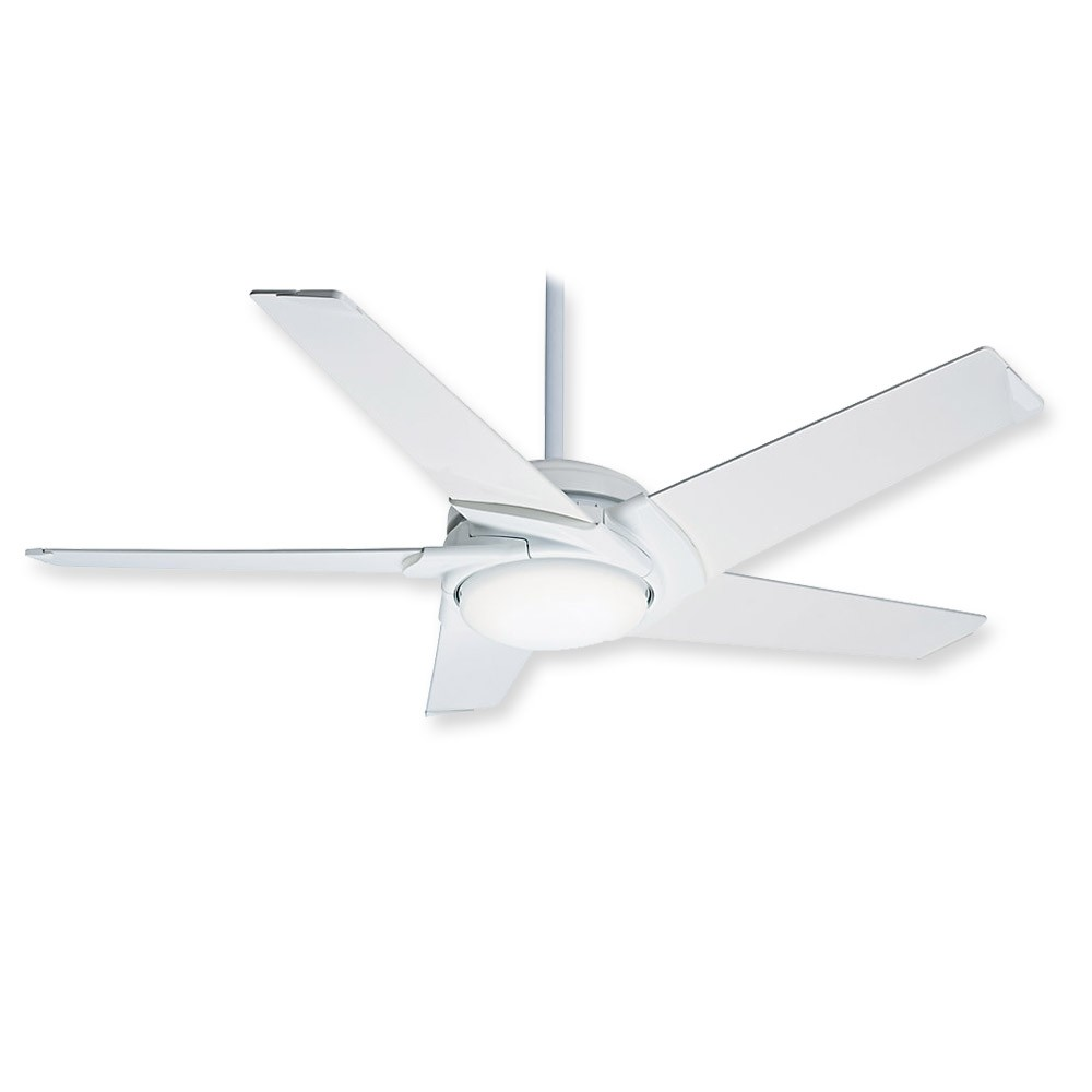Casablanca Stealth 59091 Ceiling Fan Glossy White Modern Fan