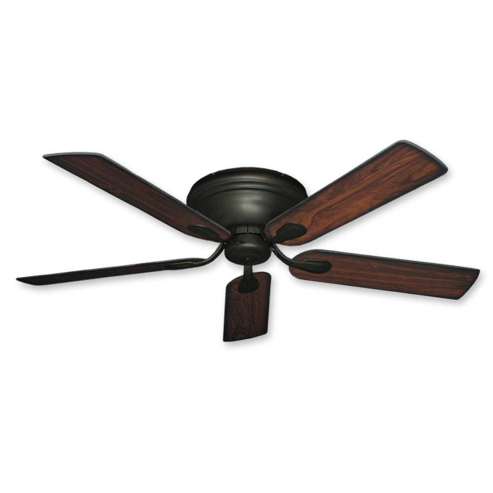 Flush Mount Ceiling Fan 52 Inch Stratus In Oil Rubbed