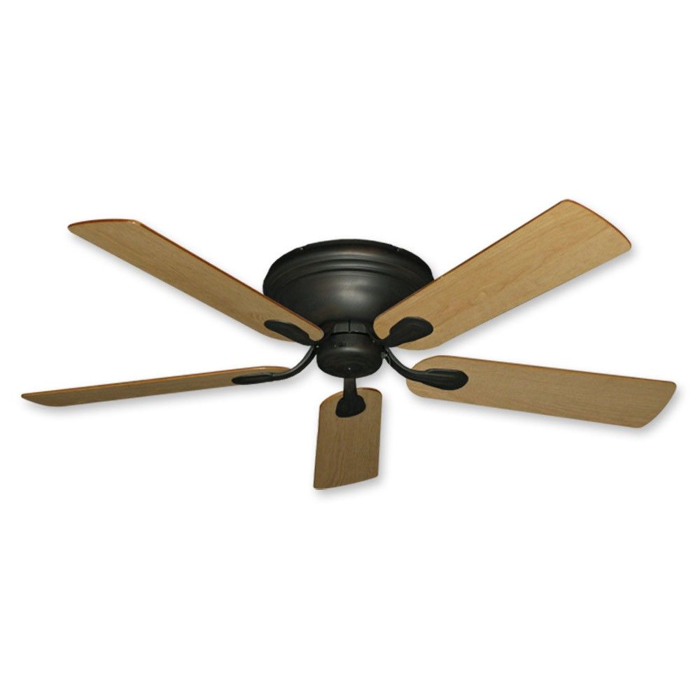 Ceiling Fan Mount : Flush mount ceiling fan inch stratus in oil rubbed