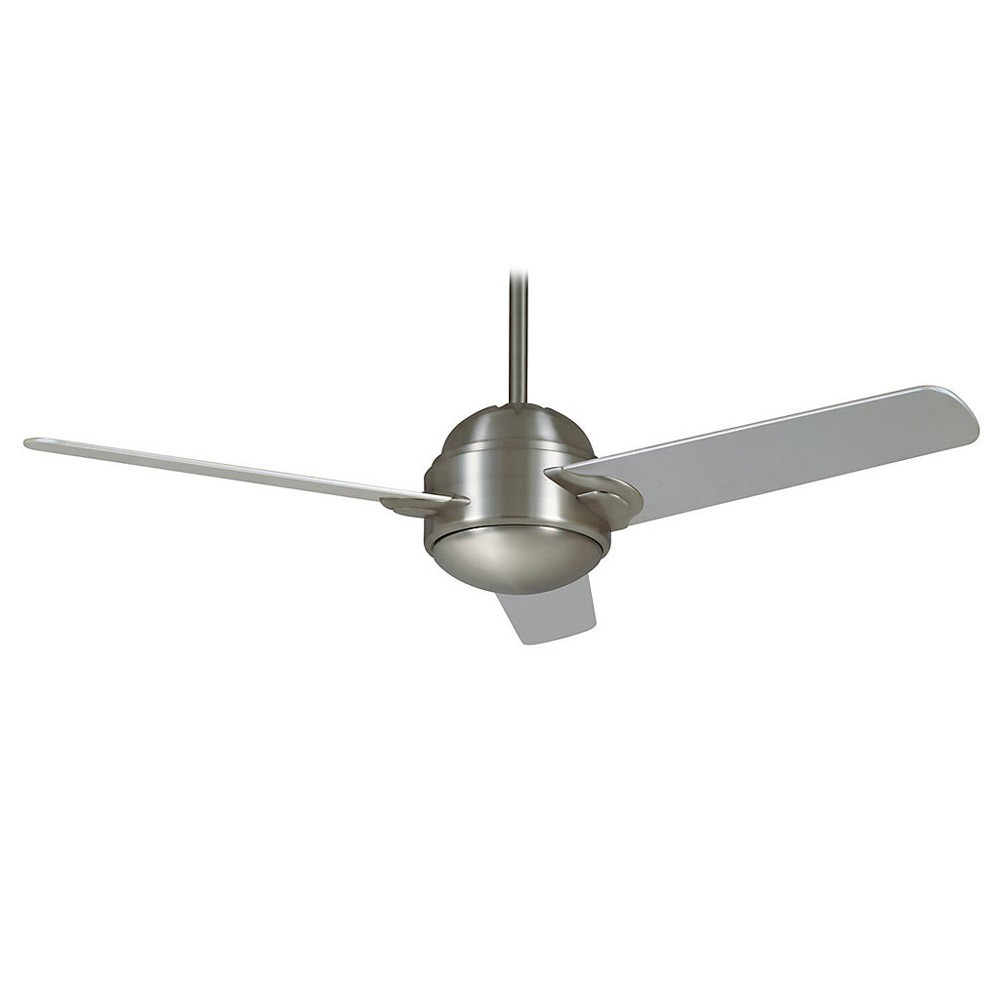 Casablanca Trident 59083 54 In Brushed Nickel Modern Ceiling Fan Fans With Light Wiring Diagram Shown Without Platinum Blades Have Been Replaced By Espresso Finish
