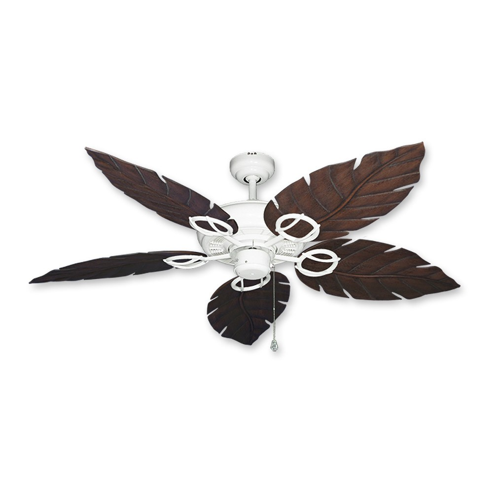 Gulf coast fans trinidad ceiling fan in pure white w venetian leaf trinidad ceiling fan pure white oiled bronze leaf blades aloadofball Images