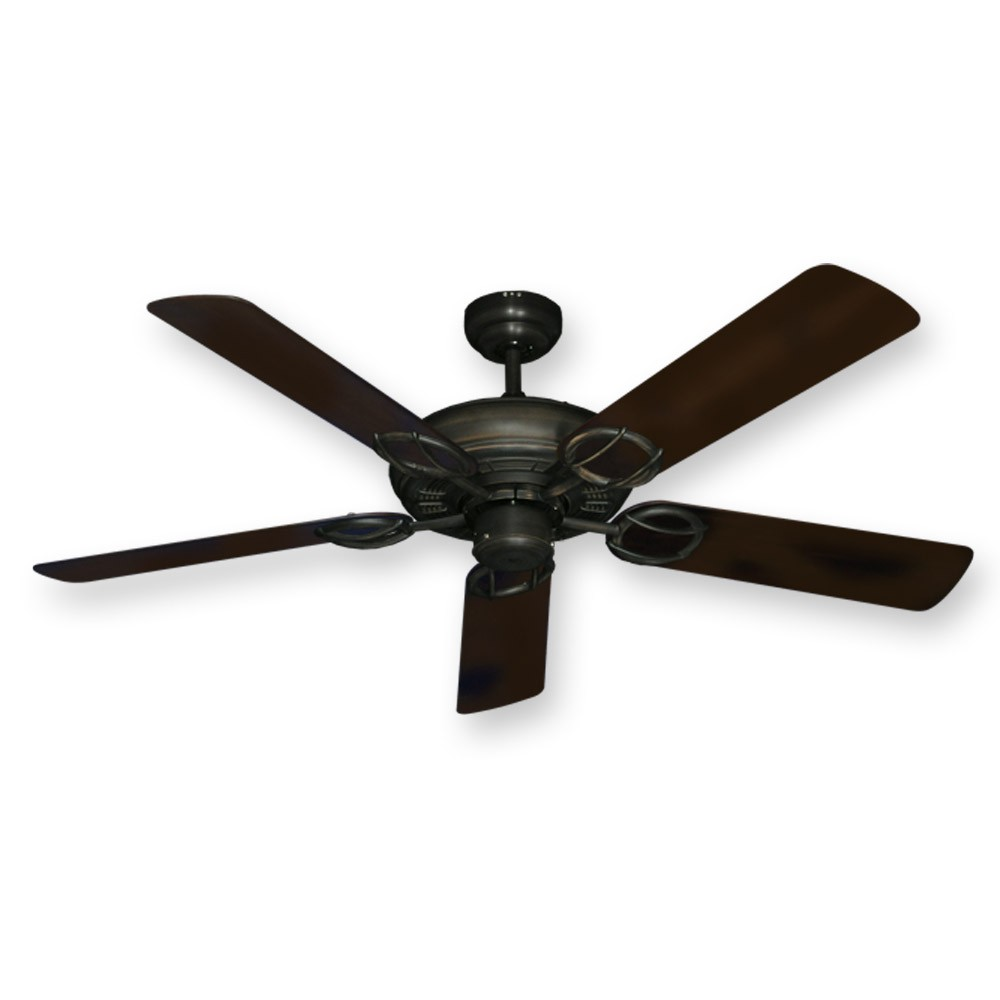 Outdoor Wet Rated 52 Gulf Coast Trinidad Ceiling Fan Oiled Bronze