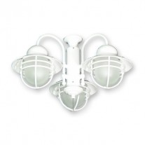 FL362 Outdoor Rated Ceiling Fan Light Kit - Nautical Styling - 3 Finishes