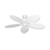 "42"" Indoor/Outdoor Tropical Ceiling Fan - Pure White Dixie Belle 150 Series - Sealed Solid Wood Blades"