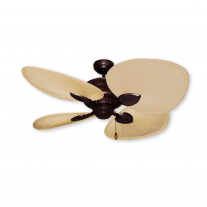 "48"" Gulf Coast Palm Breeze II Ceiling Fan - Oil Rubbed Bronze w/ Natural Palm Leaf Blades"