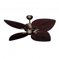 "50"" Gulf Coast Bombay - Antique Bronze Tropical Ceiling Fan w/ 3 Blade Finishes"