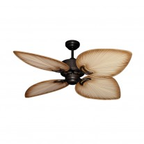 "50"" Gulf Coast Bombay - OIl Rubbed Bronze Tropical Ceiling Fan w/ 3 Blade Finishes"