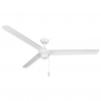 "72"" Troposair Tornado Outdoor Ceiling Fan - Pure White"