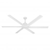 "72"" Titan II by TroposAir - Large Industrial Ceiling Fan - Pure White Finish"