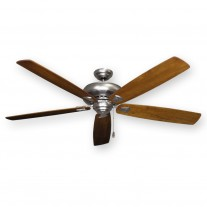 "Gulf Coast 72"" Tiara Large Ceiling Fan, Satin Steel - 4 Blade Finishes"